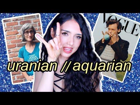 what's the difference between uranus & aquarius? that vegan teacher & harry styles\\(Puro Astrology)