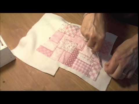 presina in patchwork con punto zig-zag