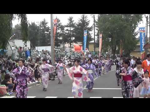2015第26回北奥羽ナニャドヤラ大会流し踊り【大野中学校】洋野町