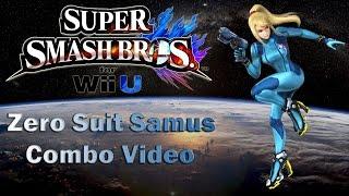 Super Smash Bros. 4 Wii U – Zero Suit Samus Combo Video (SSB4)