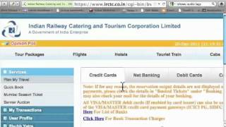 Online Train Ticket Booking via IRCTC