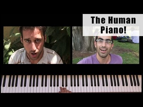 The Human Piano - (Super Mario Theme)
