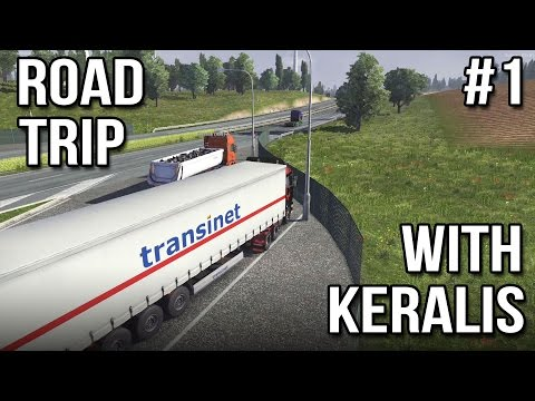 euro - Part 1 of 3 of a Euro Truck Multiplayer trip with Keralis. We start off in Sheffield, England and our destination is Łódź in Poland. I've got a trailer full of furniture and Keralis has...