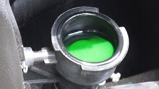 8. Kymco People GT 300i scooter coolant level inspection and coolant top off