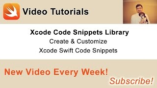 In this video I am going to share with you how to create your own Xcode Code Snippets and how to customize existing code snippets.Check out my Swift code examples at http://swiftdeveloperblog.comFollow me on one of your favourite social networks to learn about new video tutorials and code examples:*****Twitter: @SwiftVideoBlog. http://twitter.com/SwiftVideoBlogGoogle Plus: https://plus.google.com/+SergeyKargopolov/postsFacebook: https://www.facebook.com/SwiftDeveloperBlog/*****