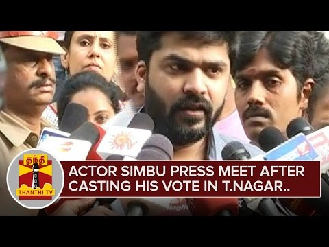 Actor-Simbu-Press-Meet-after-Casting-his-Vote-ThanthI-TV