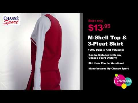 campusteamwearvideos - Another fine cheerleader shell top from Chasse. The double knit shell top (520PET) features two-stripe taping, a straight bottom and easy on and off capabili...