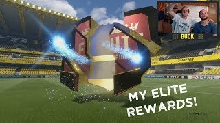 In my Elite 3 FUT Champions Rewards we are guaranteed 2 Calcio A (Serie A) Team of the Season players on FIFA 17! We brought back Goose to see if his pack luck can continue, and it definitely did!If you enjoyed the video please subscribe and leave a like :)  Get Buck Merch! ► http://Buckarmy.com Buck's Social Media► Twitch: https://www.twitch.tv/buckarmy► Twitter: http://twitter.com/buckarmy► Instagram: https://www.instagram.com/buck_tv_official/?hl=en► Snapchat: C_Buck8