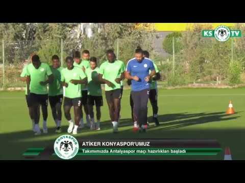 Atiker Konyaspor'umuz yaptığı antrenmanla Antalyaspor maçı hazırlıklarına başladı