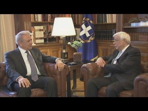 Συνάντηση Π.Παυλόπουλου με τον Δ.Αβραμόπουλο στο Προεδρικό