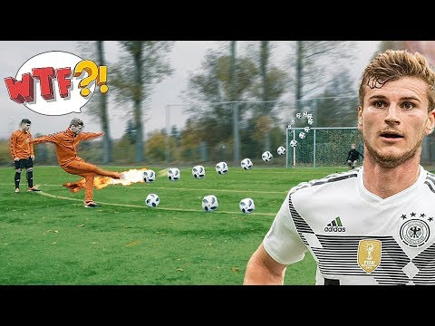 freekickerz vs Timo Werner - Ultimate Football Challenges - Thời lượng: 5 phút, 48 giây.