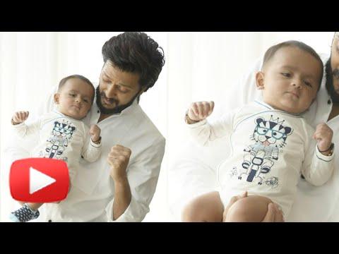 Pics: Riteish Deshmukh & Genelia D'Souza's Son Ria