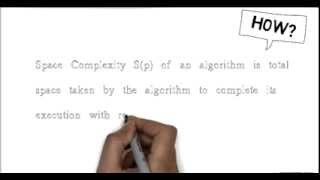 howToCalculateSpaceComplexity