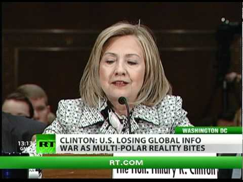 Clinton asks for cash as US 'losing world info war'
