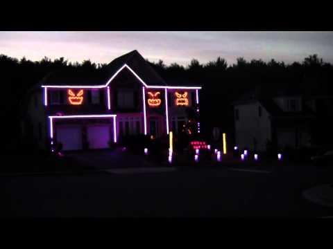 2012 Halloween Light Show Gangnam Style