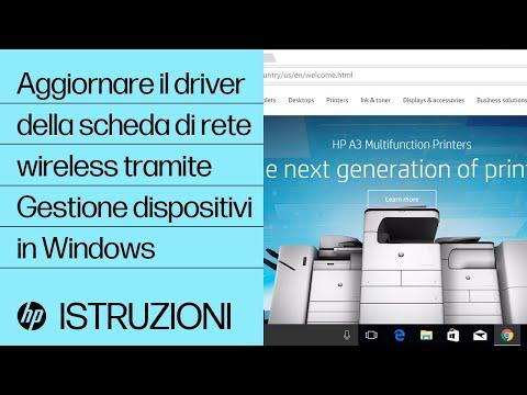 Aggiornare il driver della scheda di rete wireless tramite Gestione dispositivi in Windows
