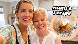VISITING MY SISTER'S NEW HOUSE + MOM'S QUICKIE PEACH COBBLER | leighannvlogs by Leigh Ann Says