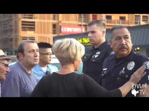 Civilian Protest in Los Angeles Against Armenian Government  VS Glendale Police Forces (видео)