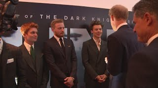 Prince Harry meets the stars of Christopher Nolan's 'Dunkirk' at the film's world premiere in London.
