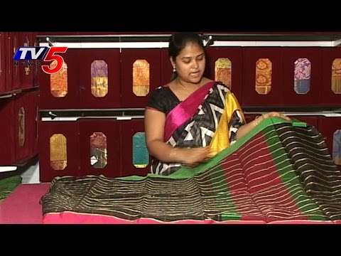 Designer Black Mythri Silk Saree : TV5 News