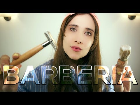 Barberia Roleplay  Corte y rasurado de barba  ASMR español  Asmr with Sasha