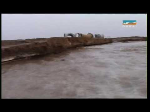 أمطار امس الغزيرة من تلفزيون سما دبي 22/10/2009