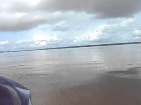 Boat from Parika to Bartica   Part 4   Guyana   June 2014