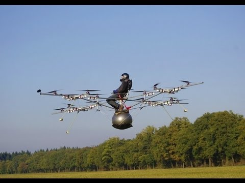 Flight - On October 21st, 2011, Thomas Senkel of e-volo made the first manned flight with an electric multicopter (VTOL), the so called volocopter VC1, at an airstrip...