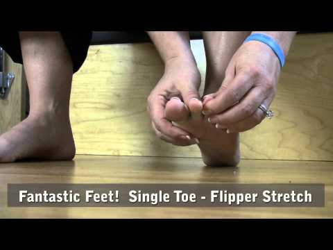 Foot Fitness Exercise Tips: Single Toe Flipper Stretch