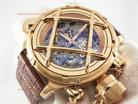 , title : 'Invicta 14628 Russian Diver Grey Skeleton Dial Rose Gold Mechanical Watch'