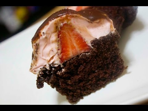 Chocolate Covered Strawberry Cupcakes- CookedbyJulie