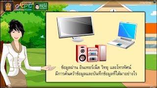 สื่อการเรียนการสอน การศึกษาค้นคว้า  ป.6 ภาษาไทย