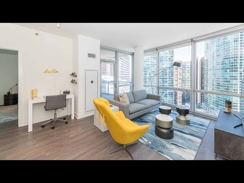 A one-bedroom with a balcony at Streeterville's new 465 North Park