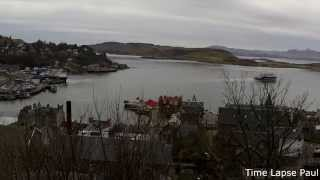 """Recorded from McCaig's Tower, Oban. Watching the ferries. The first ferry is Caledonian McBrain """"The Clansman"""". During the film..."""