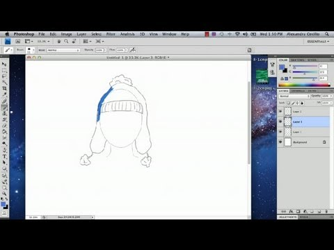 How to Draw a Ski Hat in Photoshop : Photoshop Tutorials