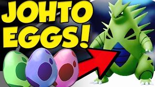 Pokemon GO Johto Egg Hatching! Pokemon GO 10km Eggs - 5km - 2km by Verlisify