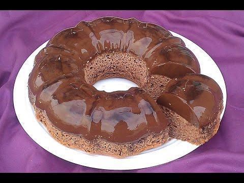 كيكة بالفلان طبقتين طبقة الكيك وطبقة الفلان بالشكلاط رائعة ولذيذة (видео)
