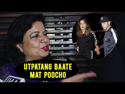Madhu Chopra Gets ANGRY On A Reporter Over Nick Jo