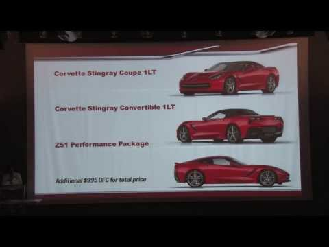 Corvette - Here is the full 2014 Corvette Stingray Seminar put on by Corvette Chief Engineer Tadge Juechter and Corvette Product Manager Harlan Charles at the Corvette ...