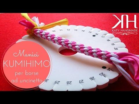 uncinetto - come realizzare i manici per le borse con il kumihimo!