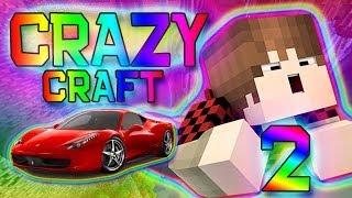 Minecraft: Crazy Craft 2.0 Modded Survival w/Mitch! Ep. 2 Part 2 - Ferrari Car! (Crazy Mods)