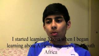 Pranav after studying Xhosa for 1 month on his own.