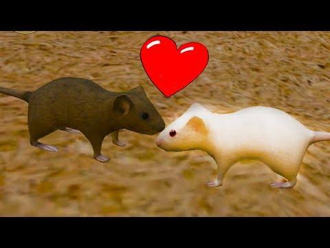 СИМУЛЯТОР Маленькой МЫШИ #2 Влюбился в мышку и напала кошка мультяшная игра детский летсплей #КИД