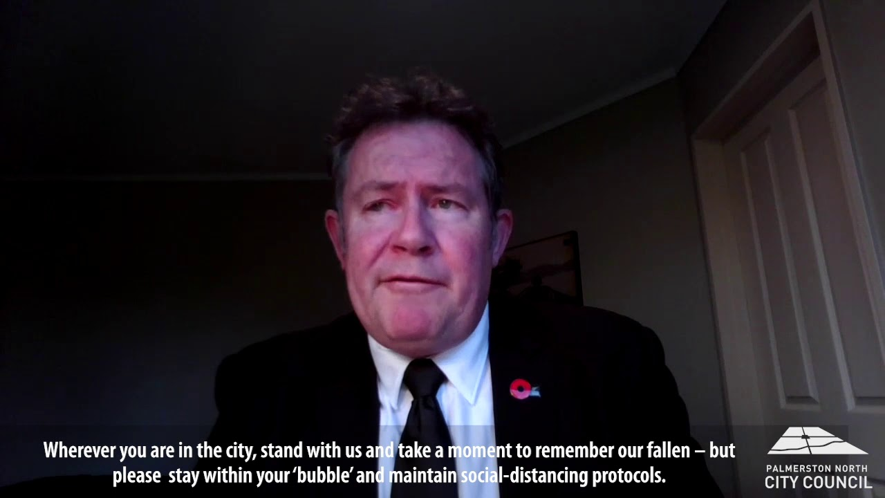 YouTube placeholder image shows mayor wearing suit and poppy.