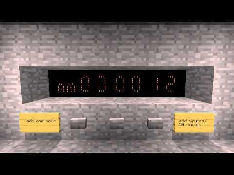 Minecraft Digital Clock 24 hour