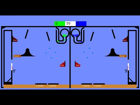 Colorful Basketball Game - A Marble Race in Algodoo