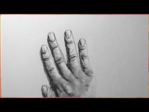 Hand, zeichnen im Zeitraffer (Hand, drawing in fast motion)[HD]