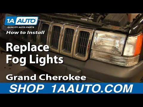 How To Install Replace Fog Lights 1997-98 Jeep Grand Cherokee