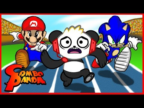 Let's Play Mario and Sonic Rio Olympic Games with Combo Panda (видео)