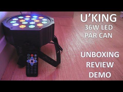U'KING 36W LED PAR LIGHT 18PCS (UNBOXING, REVIEW + DEMO)